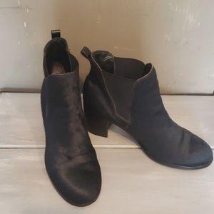 Sam Edelman black cow hair ankle booties